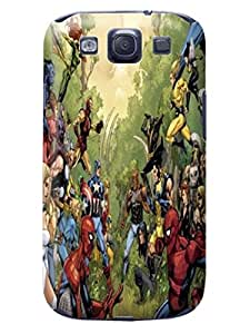 Steven L.Cummings Creative Funny Picture of TPU Stars Marvel Avengers Captain America Snap on Samsung GalaxyS3 Case Best Cover