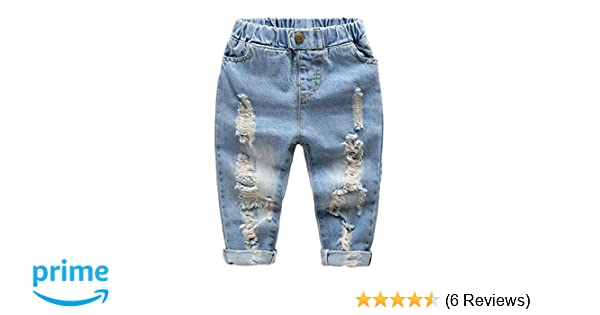 Next Baby Boy Jeans Ripped Blue Denim 3-6 Months Comfy Fashionable Patterns Bottoms Baby & Toddler Clothing