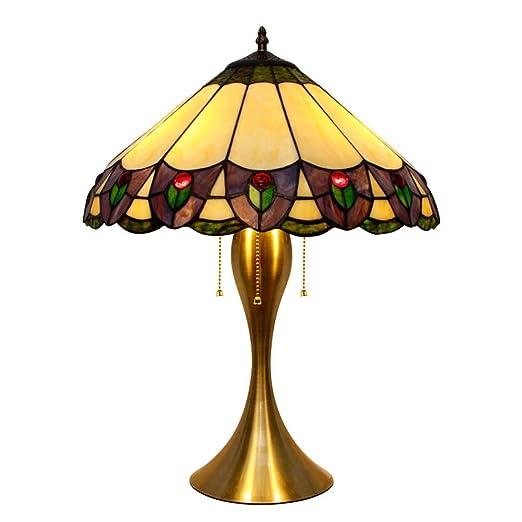 Estilo Tiffany Lámpara de mesa Lámpara de mesa de vidrio de ...