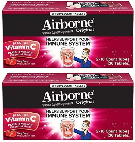 Airborne Berry Effervescent Tablets Count
