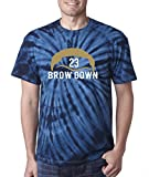"""Silo Shirts TIE DIE NAVY Anthony Davis New Orleans """"BROW"""" T-Shirt"""