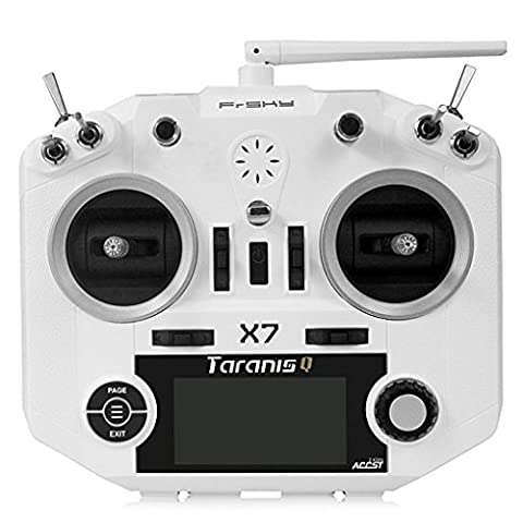 Boyiya FrSky ACCST Taranis Q X7 2.4GHz 16CH Transmitter Mode 2 For Racing Drone (White) (5 Channel Slt Transmitter)