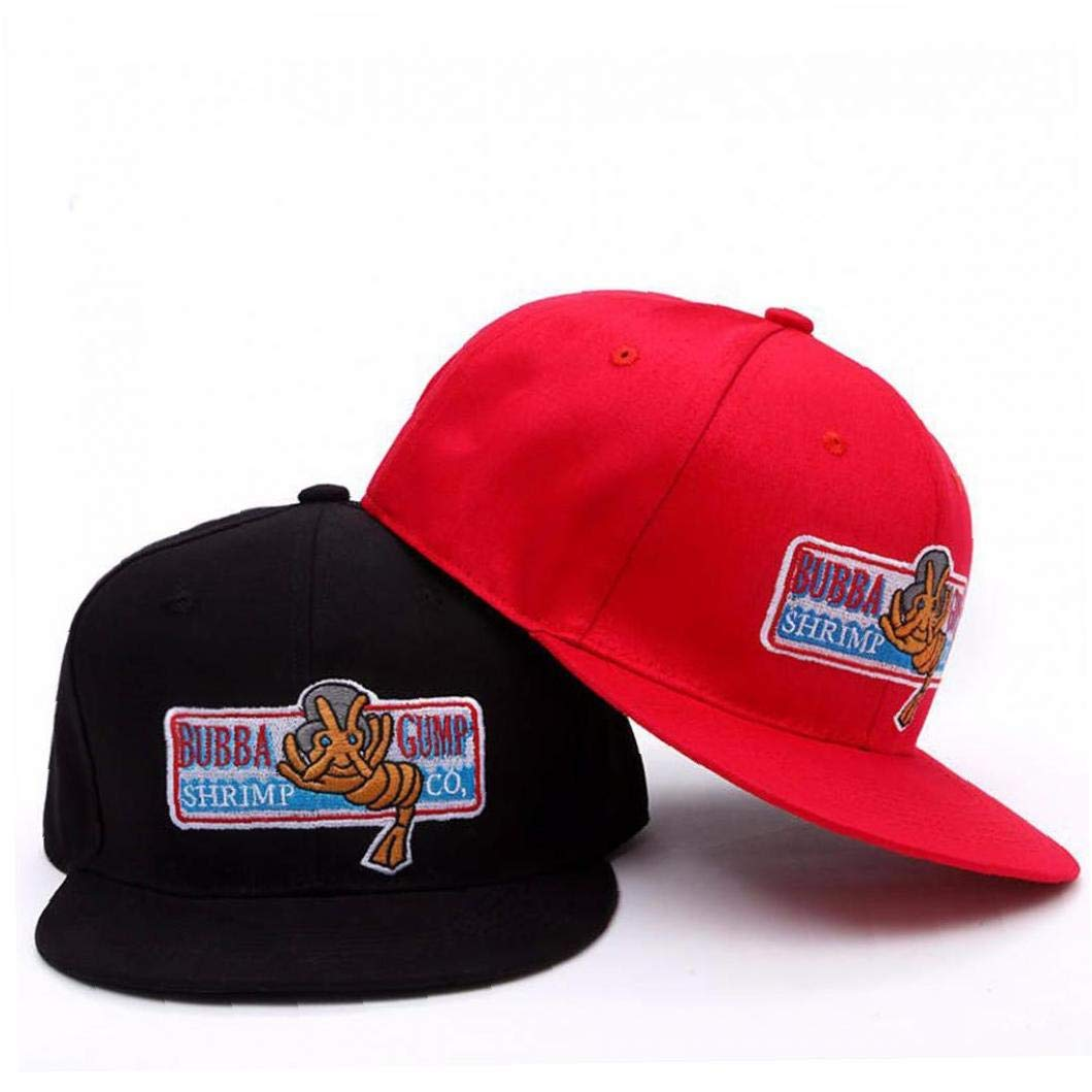 Bubba Gump Cap Shrimp CO LKW-Baseballm/ütze Sommer Sport-Hysteresen-Kappe Forrest Gump Justierbarer Hut F/ür Frauen-Mann