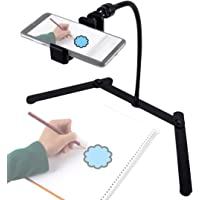 Ajustable Tripod with Cellphone Holder, Overhead Phone Mount, Table Top Teaching Online Stand for Live Streaming and…