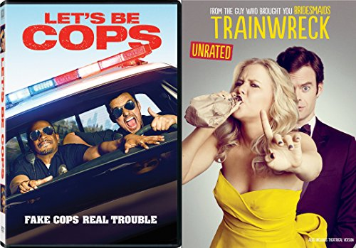 Magic Mike Cop Costume (Trainwreck & Let's Be Cops Double Feature DVD Fun Comedy movie Set Combo Double Edition)