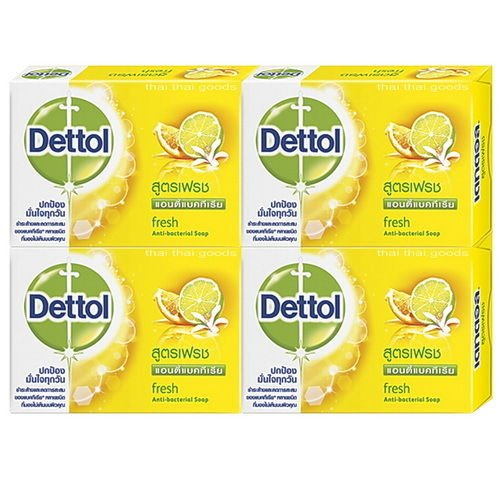 70g X4 NEW Dettol Anti-bacterial Soap Fresh Formula Aroma Spa Body Bathroom