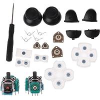 Siwetg L1 R1 L2 R2 Botones de disparo 3D analógicos Palos de pulgar de goma conductiva para el mando de PS4 juego de…