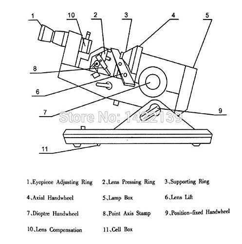 Manual lensmeter Optical lensometer Focimeter External Reading AC DC Power NJC-6 by Original KY (Image #6)