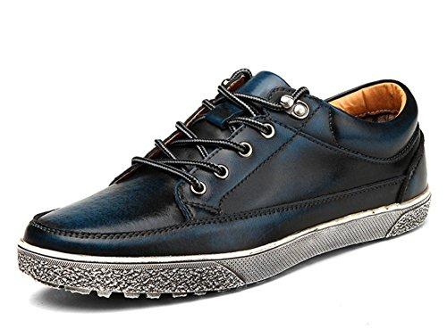2017 new men's shoes leather casual shoes fashion retro shoes 2