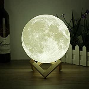 Amazon 3d space light 3d printing stepless dimmable moon lamp 3d space light 3d printing stepless dimmable moon lamp shade warm and white aloadofball Choice Image