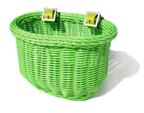 Colorbasket 01235 Kid's Front Handlebar Bike Basket, Green
