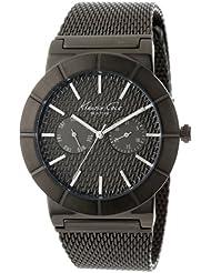 Kenneth Cole New York Mens KC9227 Dress Sport Triple Black Dial Chronograph Link Bracelet Watch