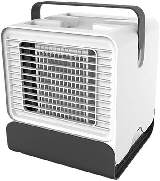 Mini Ventilador, Enfriador De Aire Mini Aire Acondicionado, Ventilador /Humidificador/Purificador De Aire Acondicionado Portátil, para El Hogar/Habitación/Oficina GAOFENG: Amazon.es: Hogar