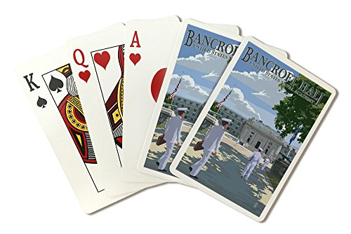 Bancroft Hall - United States Naval Academy - Annapolis, Maryland (Playing Card Deck - 52 Card Poker Size with (Academy Deck)