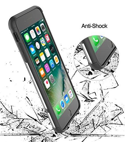 Étui iPhone 8 / iPhone 7 avec Grip Ringholder, ProCase Housse multifonction avec anneau giratoire rotatif pour Mounthder Magnetic Car, Kickstand Case pour Apple iPhone 8 / iPhone 7 -Noir