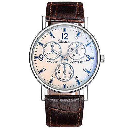 Men Women's Analog Quartz Watch,ODGear On Clearance Cheap Wrist Watch NW14 (Brown B)