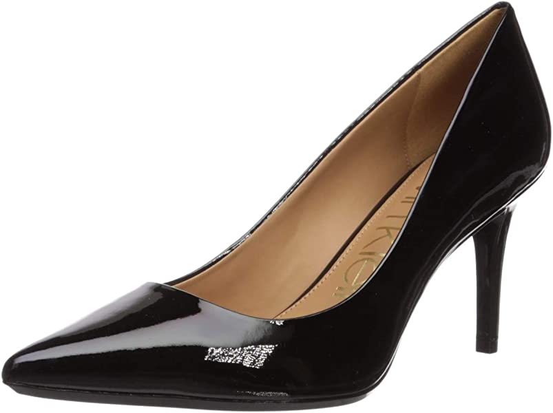 8cd9e7c7de Amazon.com | Calvin Klein Women's Gayle Pump, Black Patent - 7 C/D ...