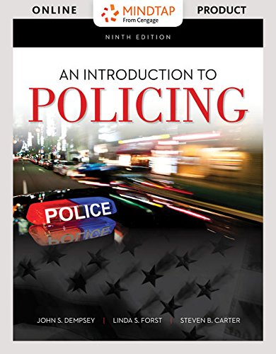 MindTap Criminal Justice for Dempsey/Forst/Carter's An Introduction to Policing - 6 months - 9th Edition [Online...