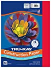 """Pacon Tru-Ray Heavyweight Construction Paper, Festive Red, 9"""" x 12"""", 50 Sheets - 103431"""
