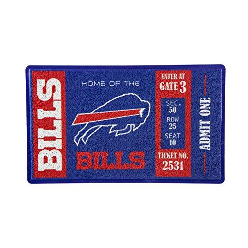 Team Sports America Buffalo Bills Recyclable PVC Vinyl Indoor/Outdoor Weather-Resistant Team Logo Door Turf Mat