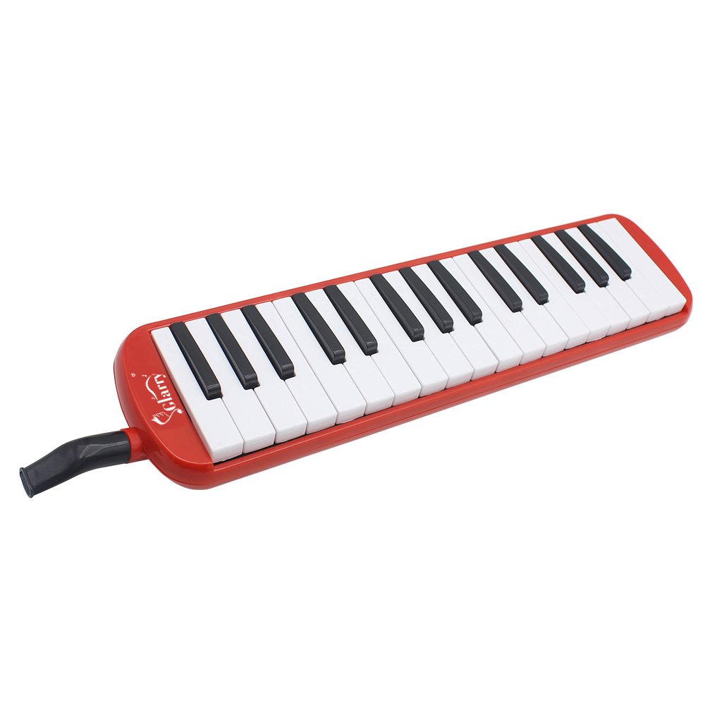 Kuyal 32 Key Melodica, Piano Style Melodica Keyboard, Musical Education Instrument For Music Lovers Beginners And Children With Mouthpiece & Hose & Bag (Red) by Kuyal (Image #7)