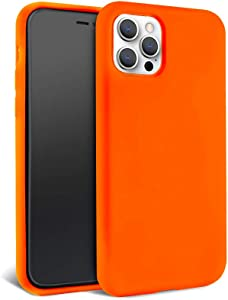FELONY CASE – iPhone 12 Pro Max Case – Neon Orange Silicone Phone Cover | Wireless Charging Compatible, 360° Shockproof Protective Case for Apple iPhone 12 Pro Max