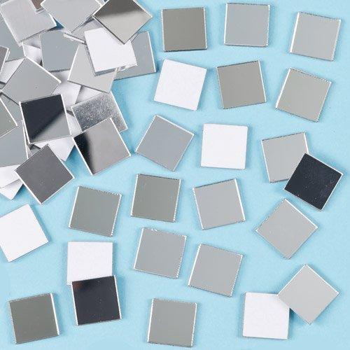 Baker Ross EF548 Azulejos de Espejo Autoadhesivos de Mosaico, 13 mm x 13 mm, Colores Variados
