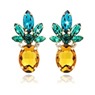 Pineapple Earrings for Women Jewelry Hawaiian Vacation Beach Party Daily with Gift Box