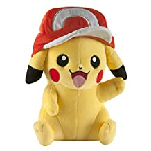 TOMY T18981 Pokémon Large Pikachu with Ash's Hat Plush