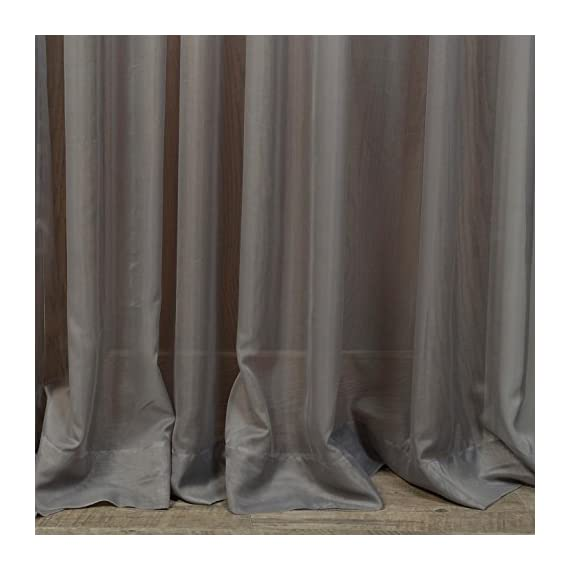 "HPD Half Price Drapes SHCH-VOL5-SLDW-108 Extra Wide Voile Poly Sheer Curtain (1 Panel), 100 X 108, Solid Grey - Sold Per Panel 100% Polyester | Unlined 3"" Pole Pocket - living-room-soft-furnishings, living-room, draperies-curtains-shades - 51ih4V ZZBL. SS570  -"