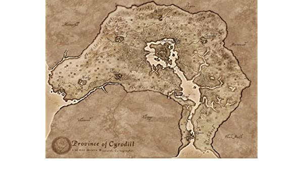 Amazon.com: omgposters SJ1262 Province of Cyrodiil TES 4 ... on elder scrolls map, forza 2 map, thief 4 map, dragon mountain map, morrowind map, kingdoms of amalur map, tales of vesperia map, divinity ii map, the lego movie map, fable 2 map, knights of the nine map, far cry 2 map, the hunger games map, snowpiercer map, daggerfall map, fortress map, skyrim map, dark skies map, the reckoning map,