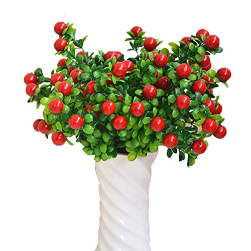 Beauti-chen Simulation Plant Fruit Home Decoration Artificial Flower Fruit Lucky Fruit with 6 Branches.