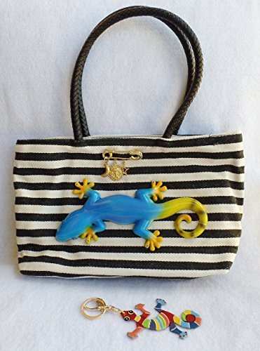 made-in-italy-canvas-zipper-tote-ladies-handbag-bag-9-gecko-embellishment-gecko-hand-painted-keychai
