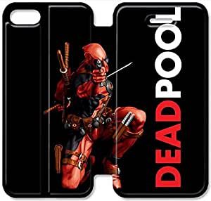 Premium Flip Ultra Slim Deadpool-2 iPhone 6/6S Plus 5.5 Inch Leather Flip Case