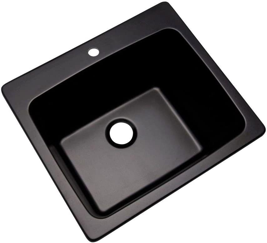 Thermocast 32199NSC Wakefield Composite Utility Sink with One Hole, 25-Inch, Black Natural Stone