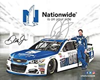 AUTOGRAPHED 2017 Dale Earnhardt Jr. #88 Nationwide Series Racing FINAL SEASON (Monster Energy Cup Series) Hendrick Motorsports Signed Collectible Picture NASCAR 8X10 Inch Hero Card Photo with COA from Trackside Autographs