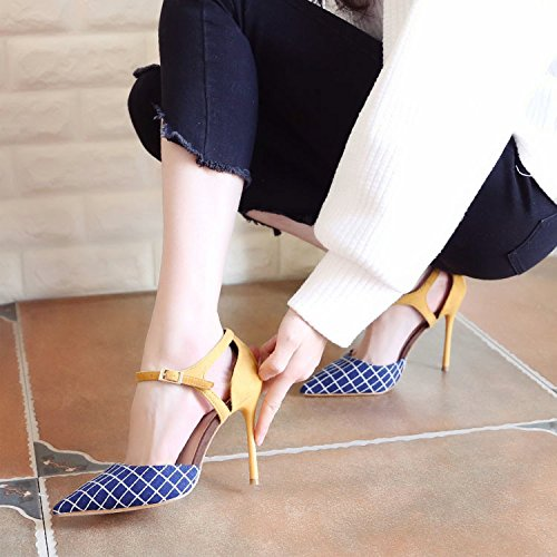 Orthographe Chaussures Printemps Blue Légèrement Talon Mince Hauts Zhudj Talons twxgRqI