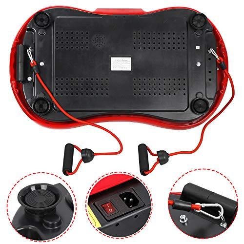 SUPER DEAL Crazy Work Out Fit Full Body Vibration Platform Massage Machine Fitness W/Bluetooth Red by SUPER DEAL (Image #6)