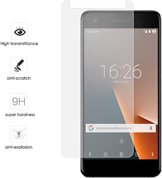 Tumundosmartphone Protector Cristal Templado para VODAFONE Smart ...