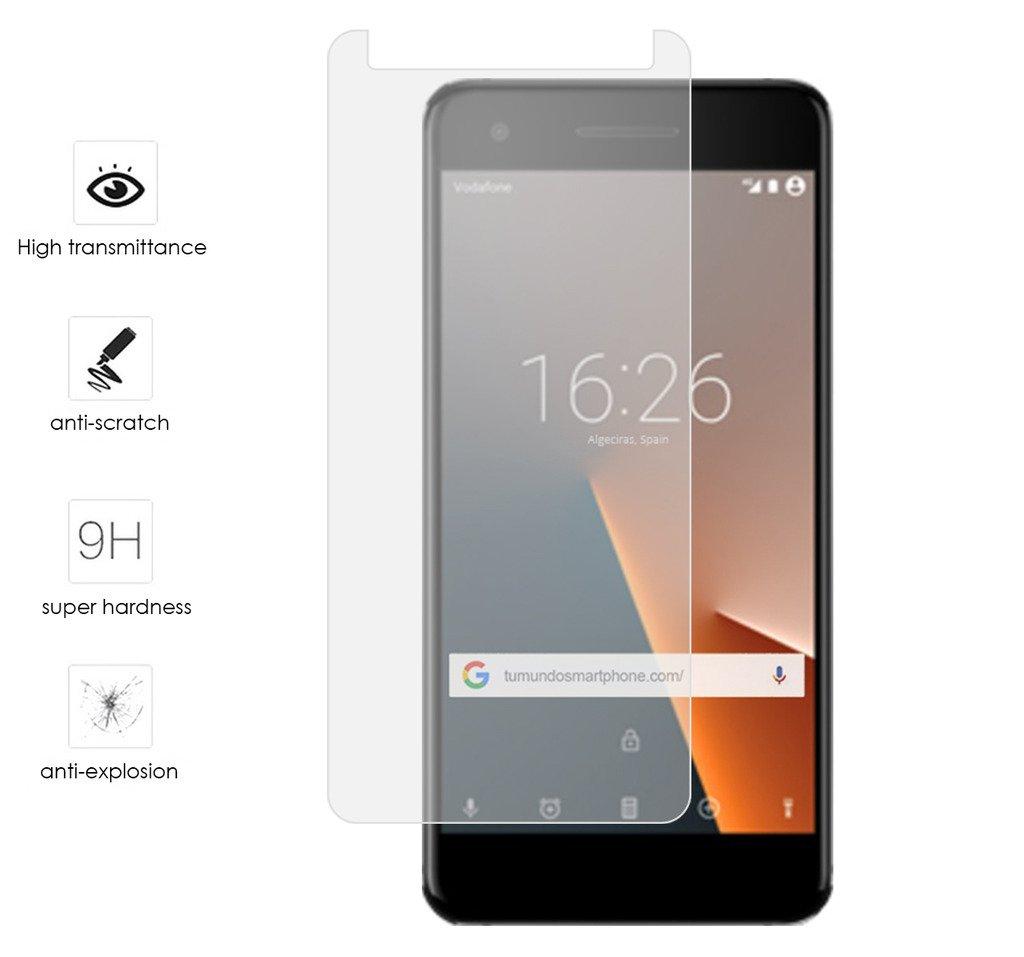 Tumundosmartphone Protector Cristal Templado para VODAFONE Smart V8 Vidrio