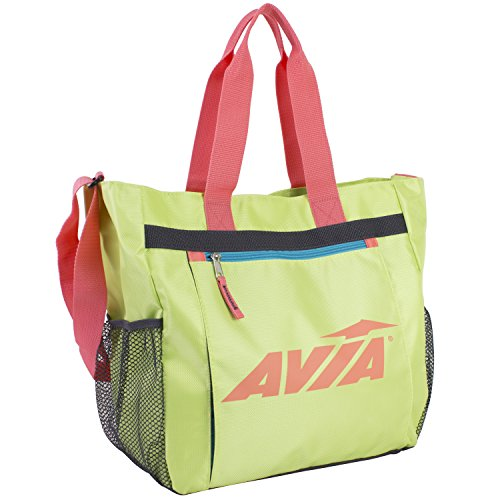 Cheap Avia Athletic Tote with Front Sleeve For Yoga Mat, Yellow