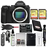 Fujifilm GFX 50S Medium Format Digital Camera Body with (2) 128GB Cards + Battery & Charger + Remote + Kit