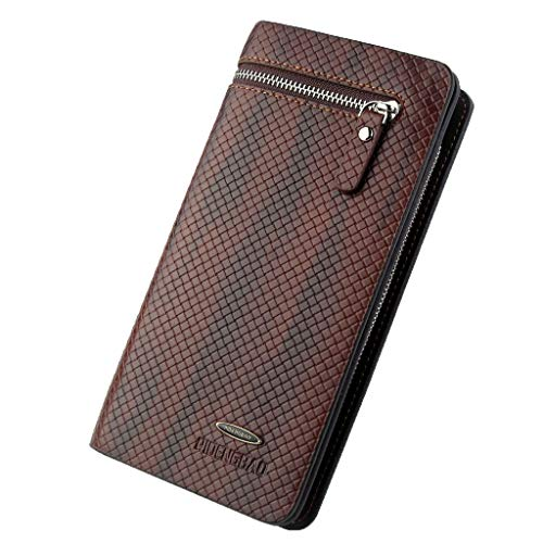 Wallet For Men,PAQOZ Classic Long Style Card Holder Male Purse Zipper Capacity Wallet