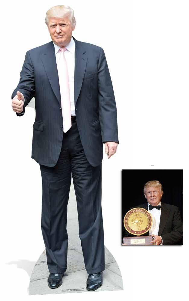 Standup //Standee Fan Pack Includes 8x10 Star Photo Donald Trump Pink Tie USA President Lifesize Cardboard Cutout