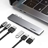 "UGREEN Hub USB C a HDMI 4K, 3 USB 3.0, Thunderbolt 3, USB Tipo C 3.1, Modelo Delgado, Adaptador Hub para MacBook Pro 2019 2018 2017 2016 15"",13"", Macbook Air 2019 2018"