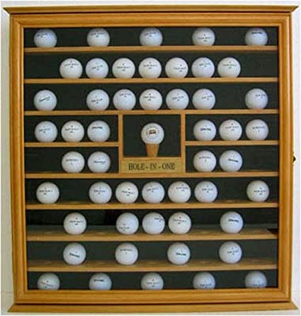 Amazon 76 Pga Golf Ball Display Case Wall Rack Cabinet With