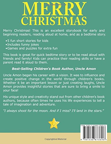 merry christmas cute short stories christmas jokes and more christmas books for children volume 6 uncle amon 9781536873696 amazoncom books