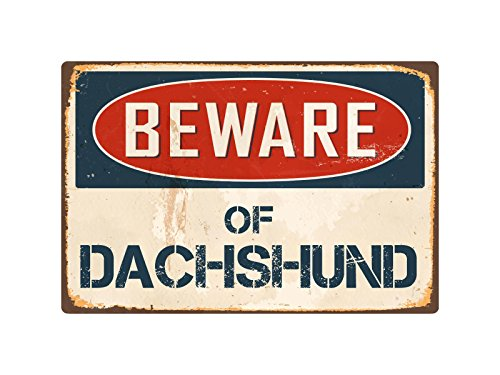 "StickerPirate Beware of Dachshund 8"" x 12"" Vintage for sale  Delivered anywhere in USA"