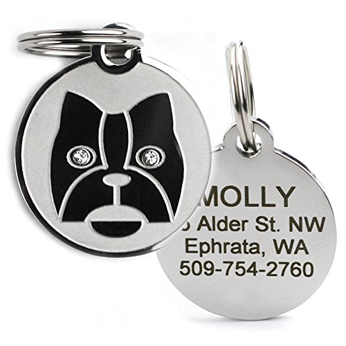 GoTags Designer Pet ID Tags in Stainless Steel