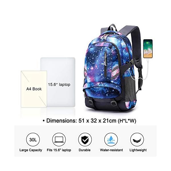Zaino Scuola Superiore per PC 15.6 Pollici da ragazzo e ragazza, Backpack Portabile Casual Rucksack per Laptop… 2 spesavip